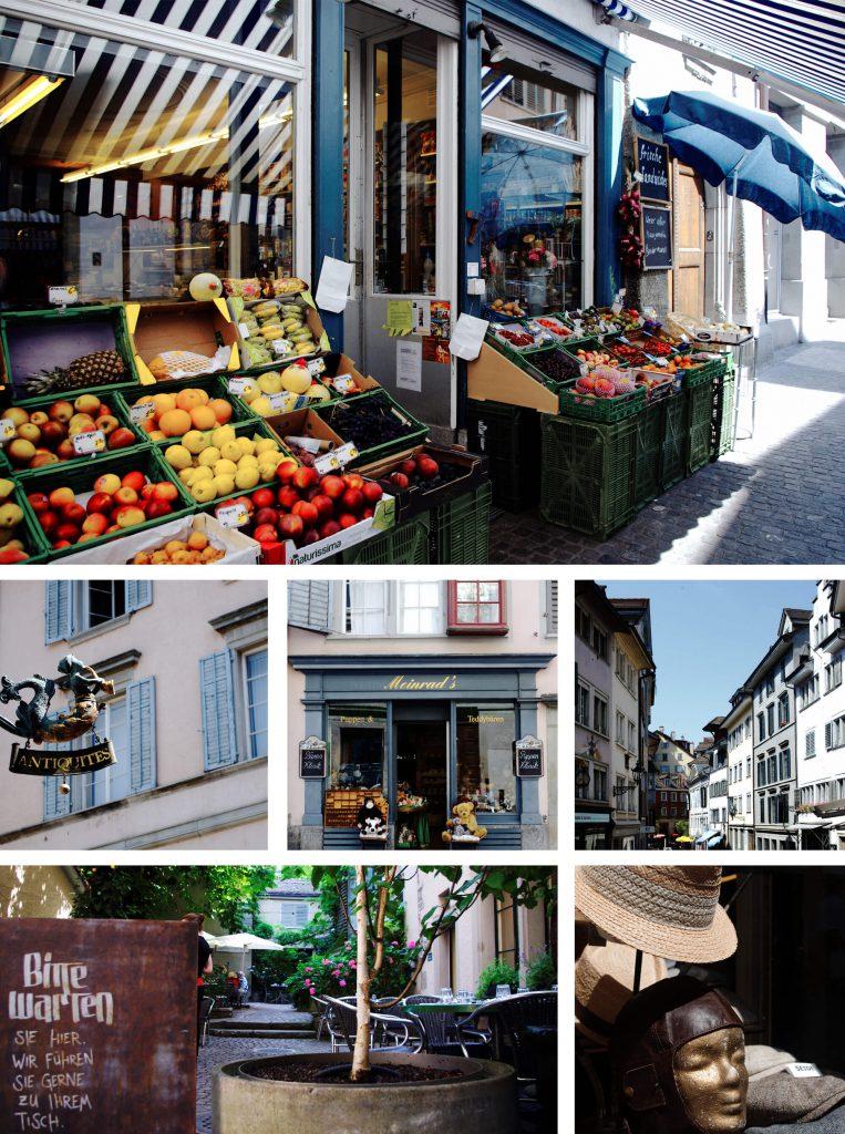 Bummel durch Zürichs Altstadt Geschäfte