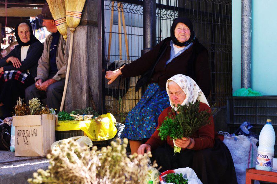 Markt in Siebenbürgen, Rumänien, in der Region Maramures