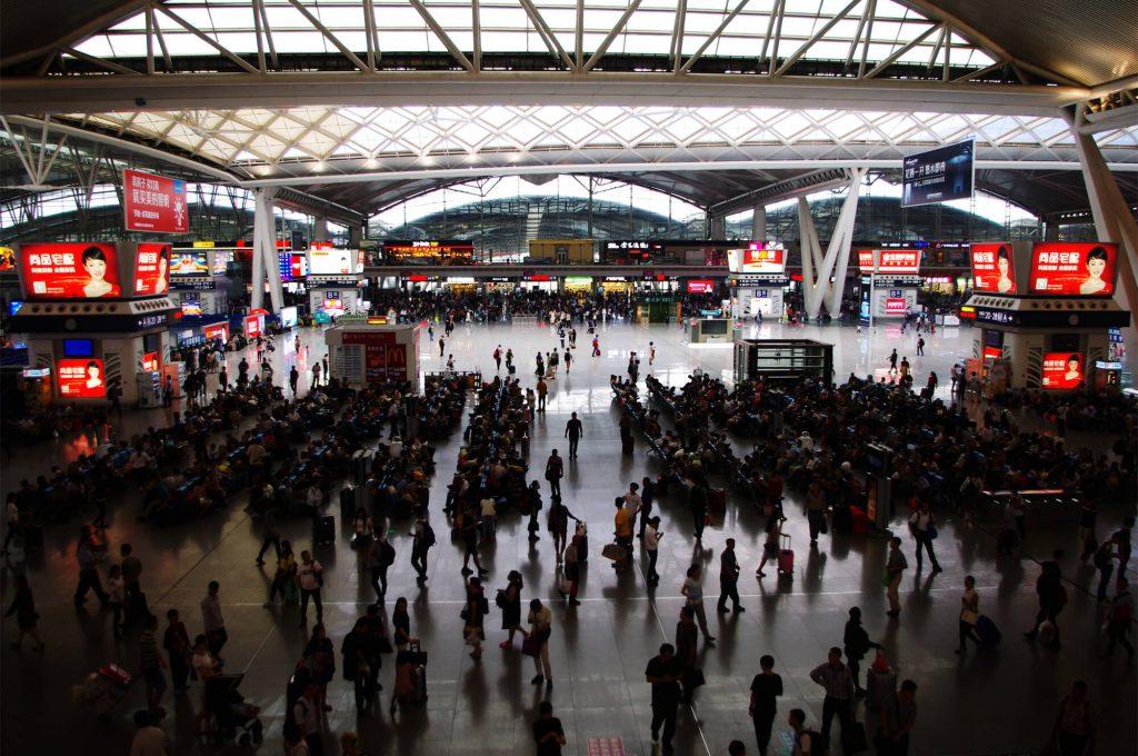 Reisen in China - Bahnhofshalle in Guangzhou
