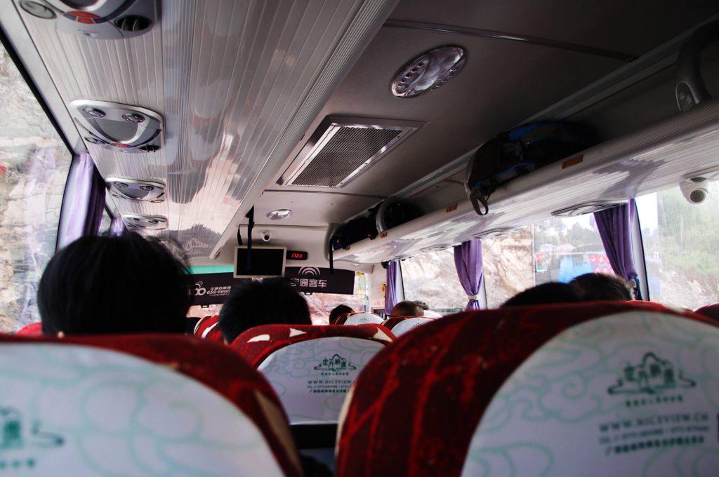 Reisen in China - mit dem Bus vom Bahnhof Yangshuo in die Stadt