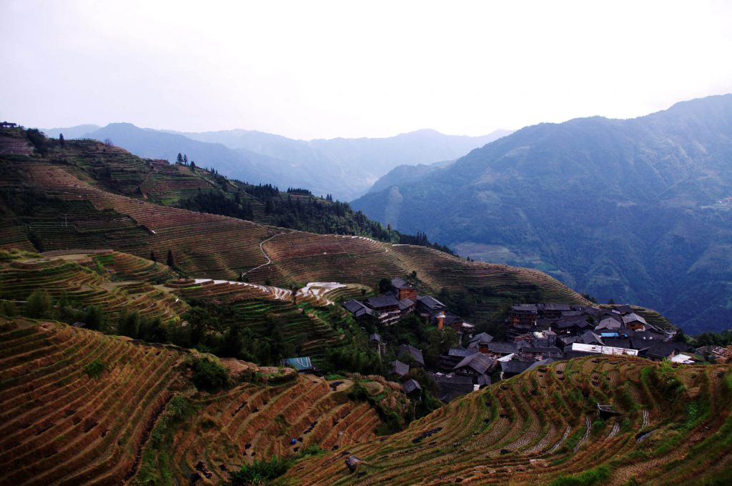Reisen in China - Reisterrassen in Ping'an (Longsheng County)