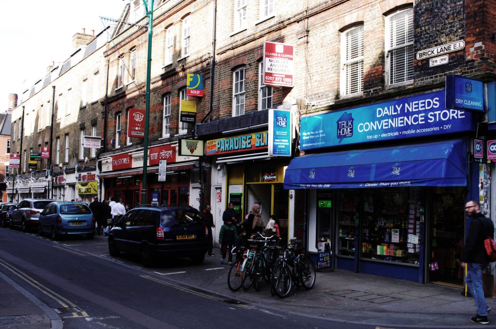 Aufnahme Brick Lane East End London