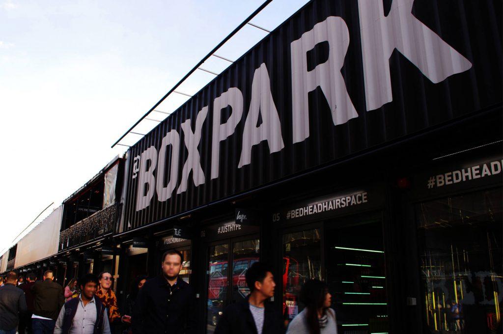 Boxpark Shoreditch im East End London