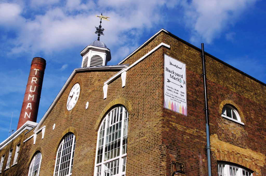 The Old Truman Brewery im East End London