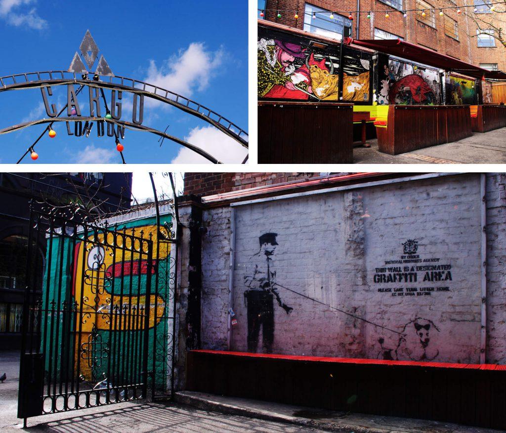 East End London - Street Art Tour - Banksy im Cargo London