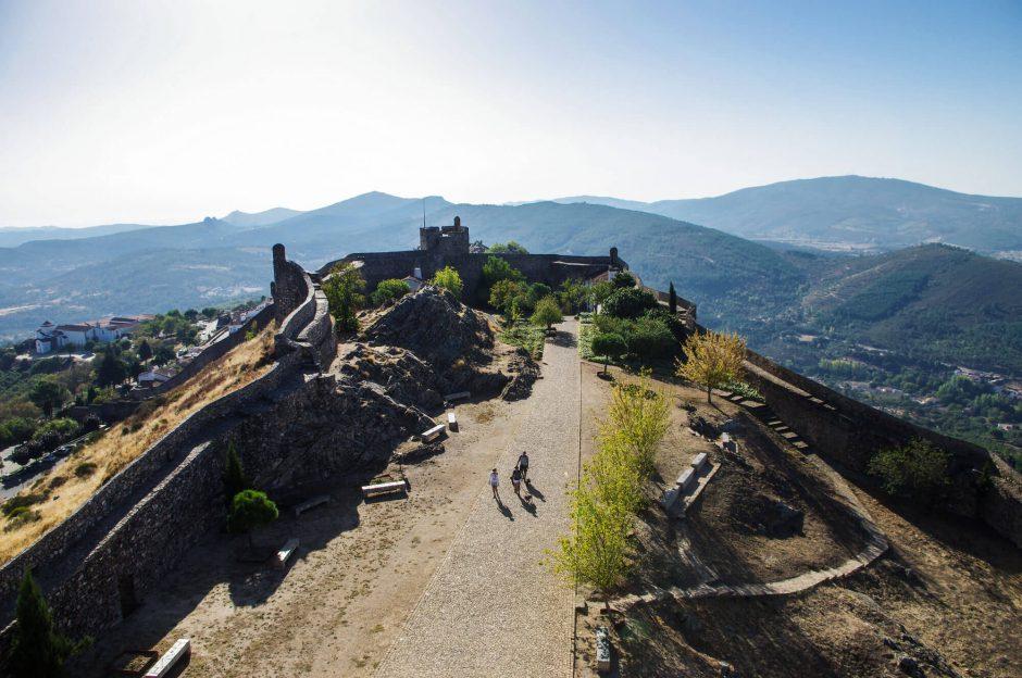 Aussicht von der Festung von Marvão in Portugal