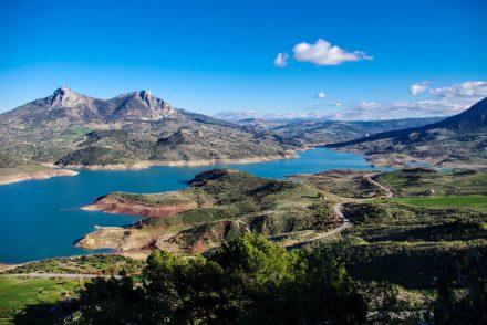 Andalusien - Zahara de la Sierra - Blick auf den Stausee Embalse de Zahara-el Gastor