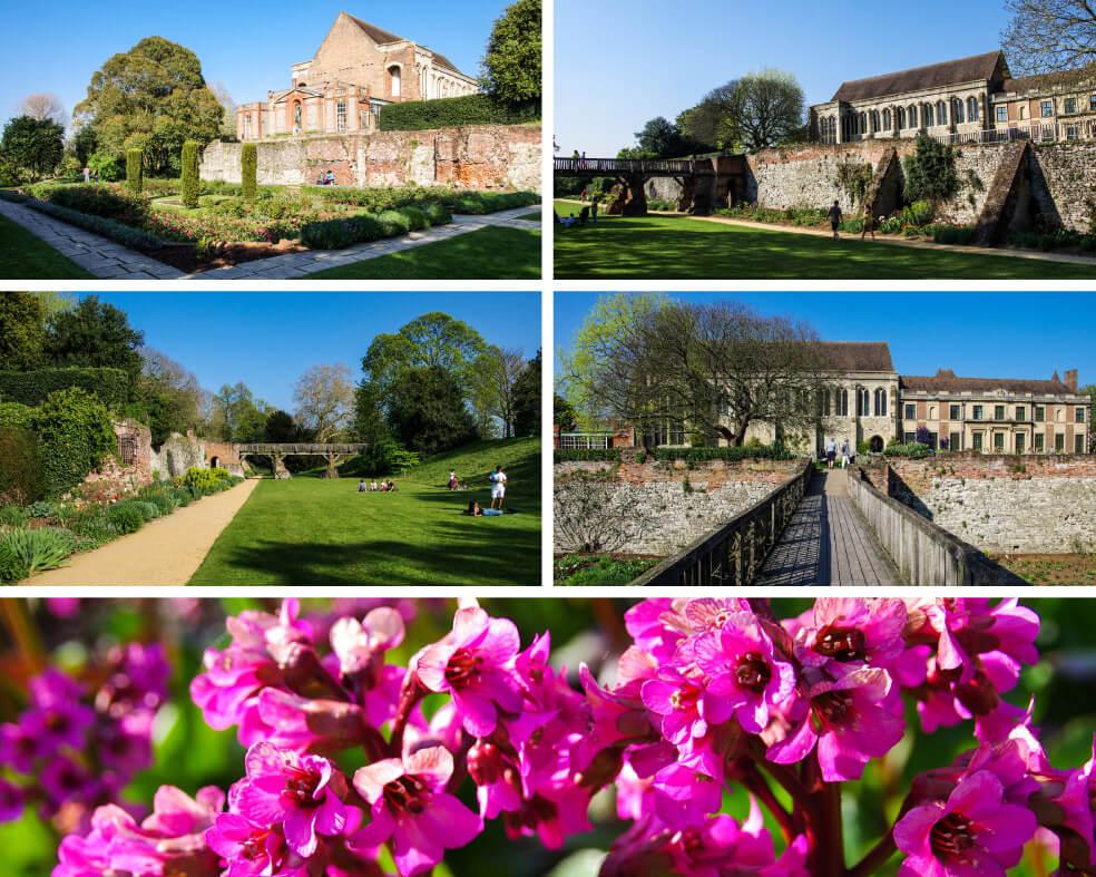 Gartenanlage von Eltham Palace in London