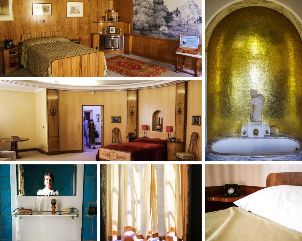 Schlaf- und Badezimmer in Eltham Palace in London