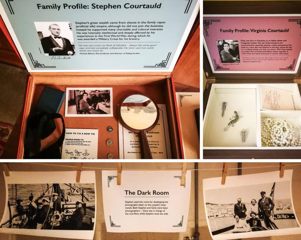 Fotos und persönliche Gegenstände der Courtaulds
