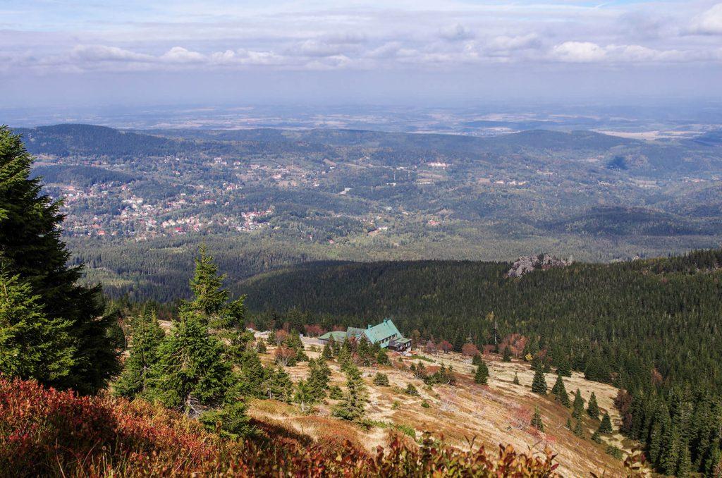 Riesengebirge: Blick auf die Alte Schlesische Baude und Umgebung