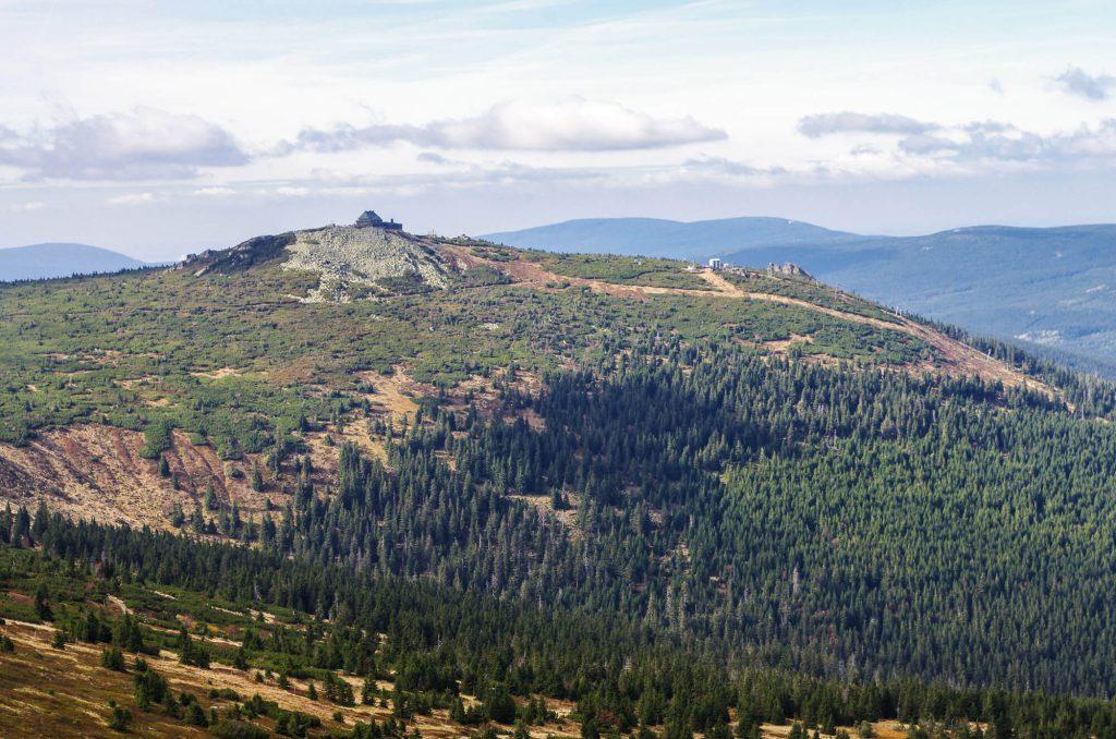 Wandern im Riesengebirge: Blick auf die Reiftäger Baude