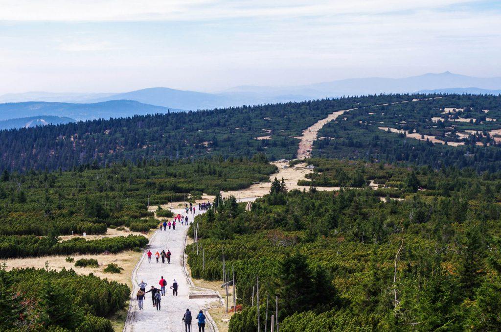Wandern im Riesengebirge: Wanderweg vom Reifträger zur Wossecker Baude