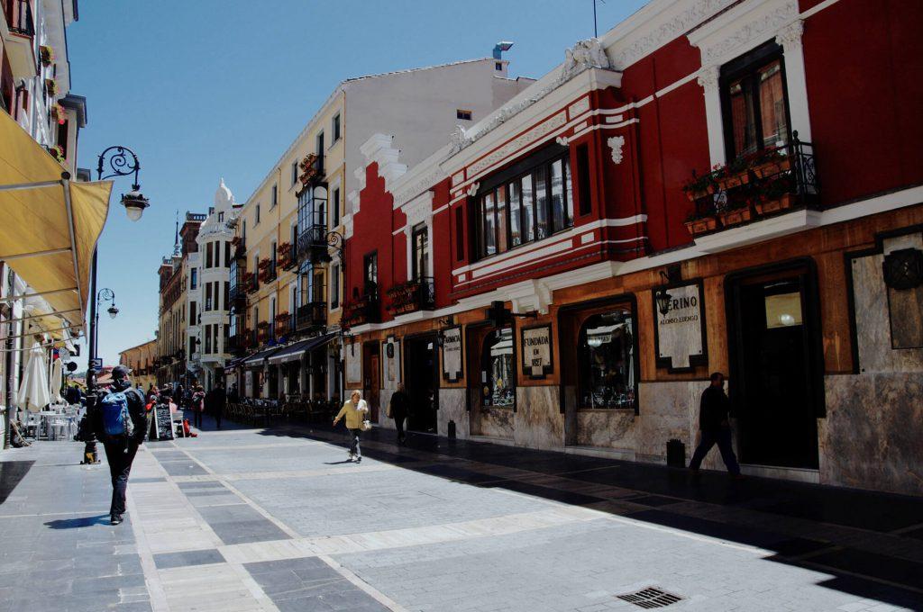 Straße in León
