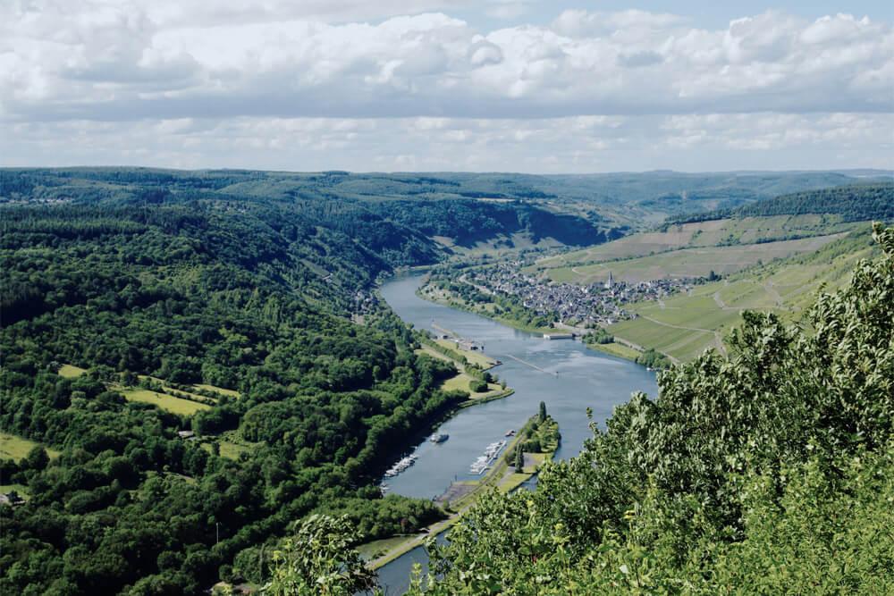 Urlaub an der Mosel - Blick aufs Moseltal
